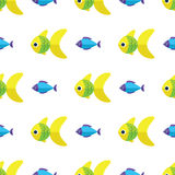 Vector seamless fish pattern. Ocean or aquarium background Royalty Free Stock Image