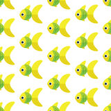Vector seamless fish pattern. Ocean or aquarium background Royalty Free Stock Photos