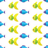 Vector seamless fish pattern. Ocean or aquarium background Royalty Free Stock Images