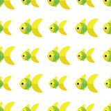 Vector seamless fish pattern. Ocean or aquarium background. Pattern seamless vector illustration. Concept background picture Stock Image