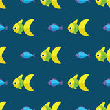 Vector seamless fish pattern. Ocean or aquarium background Royalty Free Stock Photography