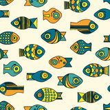 Vector seamless fish pattern Royalty Free Stock Photography