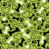 Vector seamless flat hand drawn dog pattern Stock Images