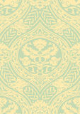 Vector seamless floral antique pattern with interlacing ribbons Royalty Free Stock Photos