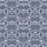 Vector seamless floral antique pattern with interlacing ribbons Stock Image