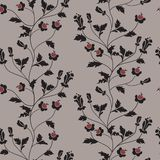 Vector seamless floral background Royalty Free Stock Images