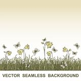 Vector seamless floral background Royalty Free Stock Photo