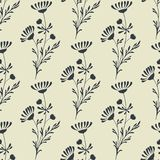 Vector Seamless Floral Background Stock Image