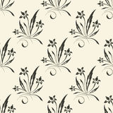 Vector seamless floral background Royalty Free Stock Image