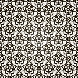 Vector seamless floral background. Lace pattern. Royalty Free Stock Photo