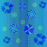 Vector seamless floral background. With lines Royalty Free Stock Photography