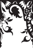 Vector seamless floral border. Element for design Stock Image