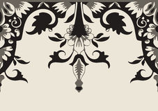 Vector seamless floral border. Element for design Royalty Free Stock Photos