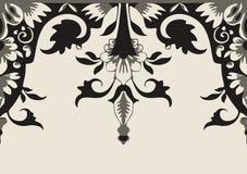 Vector seamless floral border. Element for design Royalty Free Stock Photos