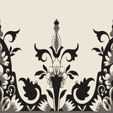 Vector seamless floral border. Element for design Royalty Free Stock Images