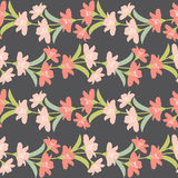 Vector Seamless Floral Border with Pastel Flowers. Pastel Flowers  Seamless Pattern. Stock Photography