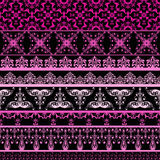 Vector seamless floral borders Stock Images