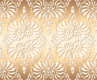 Vector seamless floral damask ornament background. Luxury old fashioned damask ornament, royal victorian seamless texture for wallpapers, textile, wrapping Stock Images