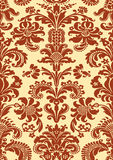 Vector seamless floral damask pattern Stock Photography