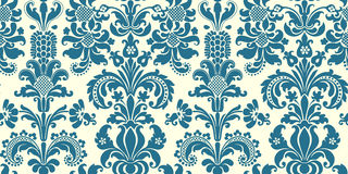 Vector seamless floral damask pattern Stock Photos