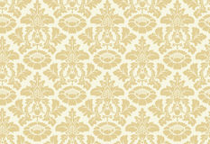 Vector seamless floral damask pattern Royalty Free Stock Photos