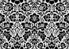 Vector seamless floral damask pattern Royalty Free Stock Photo