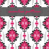 Vector seamless floral damask pattern for wedding invitation or vintage abstract background Royalty Free Stock Photography