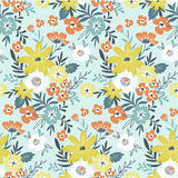 Vector seamless floral ditsy pattern. Fabric design with simple flowers. Stock Image