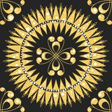 Vector seamless floral gold pattern Royalty Free Stock Image