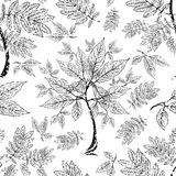Vector seamless floral grunge pattern Royalty Free Stock Photography