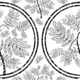 Vector seamless floral grunge pattern Royalty Free Stock Photos