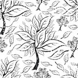Vector seamless floral grunge pattern Stock Photo