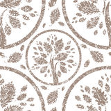 Vector seamless floral grunge pattern Stock Photography