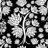 Vector seamless floral grunge pattern Royalty Free Stock Image