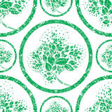 Vector seamless floral grunge pattern Stock Photos