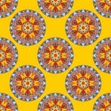Vector Seamless Floral Mandala Pattern Stock Photo