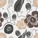 Vector seamless floral pattern. For your design Royalty Free Stock Photo