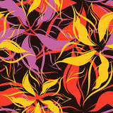 Vector. Seamless floral pattern Royalty Free Stock Photos