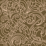 Vector Seamless floral pattern background. Seamless floral pattern background - in chocolate colors Royalty Free Stock Photos