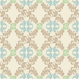 Vector. Seamless floral pattern, background Stock Images