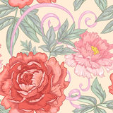 Vector seamless floral pattern. Stock Photos
