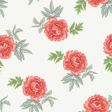 Vector seamless floral pattern. Vector background with the image of garden flowers peony. Seamless pattern. Victorian style. Vintage Royalty Free Stock Photo