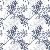 Vector seamless floral pattern. Vector background with the image of ornamental grasses. Seamless pattern. Victorian style. Vintage. Designs for textiles Royalty Free Stock Photo