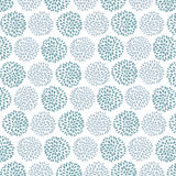 Vector seamless floral pattern with beautiful blue and lilac circle flowers made of petals. Royalty Free Stock Image