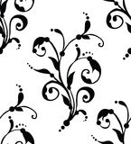 Vector - Seamless floral pattern. Black & white seamless floral pattern Royalty Free Stock Images