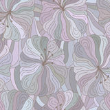 Vector seamless floral pattern. Boho style design. Royalty Free Stock Photo