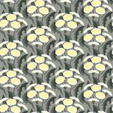 Vector seamless floral pattern with dandelions. Vector seamless floral pattern with dandelion flowers on grey. Texture for web, print, wallpaper, gift wrapping Stock Image