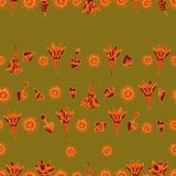 Vector seamless floral pattern 3 Royalty Free Stock Photography