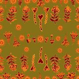 Vector seamless floral pattern 5 Royalty Free Stock Images