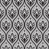 Vector Seamless  Floral Pattern. Vector Seamless Doodle Floral Pattern Stock Image
